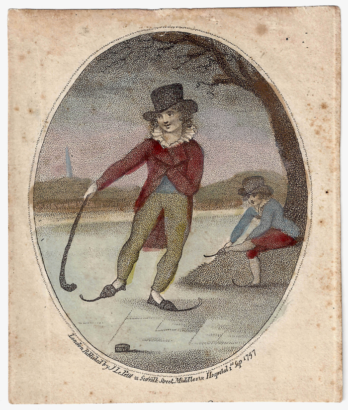 1797 London skater with puck and stick