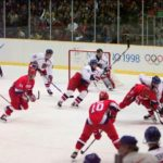 Nagano 1998 - Russia vs. Czech Republic Gold Medal Game. (Photo source: Canadaolympic989, License: CC BY-SA 3.0).