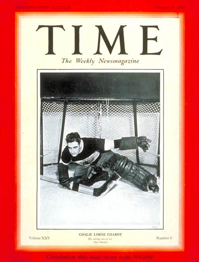 Lorne Chabot - great goalie of 1920s and 1930s